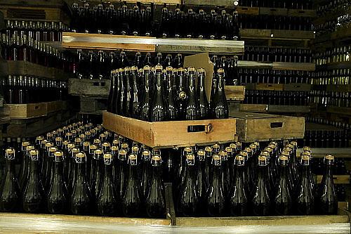 bottled wine ready for shipping, Bodegas Carrau winery, Montevideo, Uruguay,