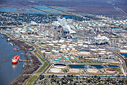 Aerial View of Oil and Gas industry in LA Wetlands.