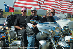 At the Field of Flags memorial at the Buffalo Chip Campground during the 75th Annual Sturgis Black Hills Motorcycle Rally.  SD, USA.  August 6, 2015.  Photography ©2015 Michael Lichter.