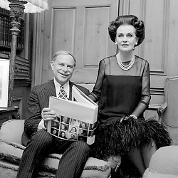 20 June 1974 - Margaret, Duchess of Argyll and Arnold Weissberger at a party in London.<br /> <br /> Photo by Desmond O'Neill Features Ltd.  +44(0)1306 731608  www.donfeatures.com