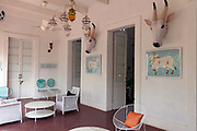 The interior of the Oh Lala boutique selling art and furnishings in Pondicherry, India<br /> Pondicherry now Puducherry is a Union Territory of India and was a French territory until 1954 legally on 16 August 1962. The French Quarter of the town retains a strong French influence in terms of architecture and culture.