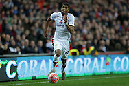 Jordan Spence of MK Dons in action. The Emirates FA cup, 4th round match, MK Dons v Chelsea at the Stadium MK in Milton Keynes on Sunday 31st January 2016.<br /> pic by John Patrick Fletcher, Andrew Orchard sports photography.