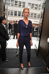 JACQUETTA WHEELER at a reception hosted by Vogue and Burberry to celebrate the launch of Fashions Night Out - held at Burberry, 21-23 Bond Street, London on 10th September 2009.