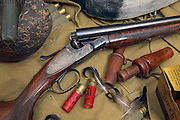 L.C. Smith Ideal Grade Shotgun and Duck Hunting Gear