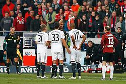 23.10.2011, AWD-Arena, Hannover, GER, 1.FBL, Hannover 96 vs FC Bayern Muenchen, im Bild Schiedsrichter Manuel Graefe zeigt  Jerome Boateng (Muenchen #17) die rote Karte .// during the match from GER, 1.FBL, Hannover 96 vs FC Bayern Muenchen on 2011/10/23, AWD-Arena, Hannover, Germany. .EXPA Pictures © 2011, PhotoCredit: EXPA/ nph/  Schrader       ****** out of GER / CRO  / BEL ******