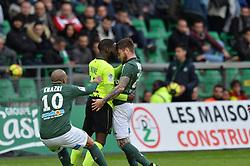 March 10, 2019 - Saint Etienne, France, FRANCE - Mathieu Debuchy (saint etienne) vs Jonathan Ikone  (Credit Image: © Panoramic via ZUMA Press)