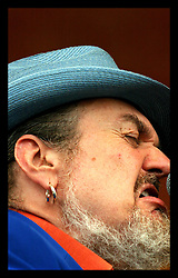 April 28nd, 2006. New Orleans, Louisiana. Jazzfest . The New Orleans Jazz and Heritage festival. Dr John performs on the Acura stage.