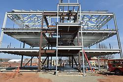 West Elevation and foundation. Central Connecticut State University. New Academic Building. Project No: BI-RC-324. Architect: Burt Hill Kosar Rittelmann Associates. Contractor: Gilbane, Inc.