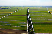 Nederland, Utrecht, Lopikerwaard, 23-05-2011; Noordzijdsekade met polderlandschap gevormd door sloten wegens veenafgraving. Polder landscape with drainage ditches. luchtfoto (toeslag), aerial photo (additional fee required).copyright foto/photo Siebe Swart