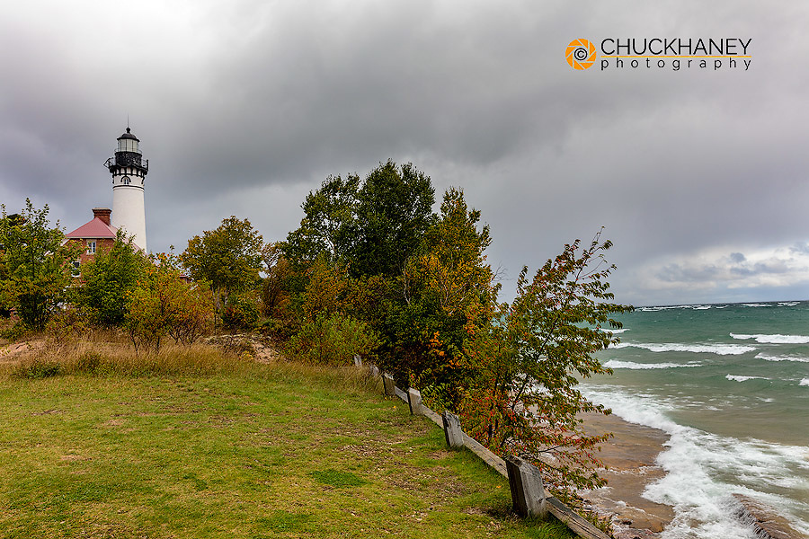 Au Sable Lighthouse in Pictured Rocks National Lakeshore, Michigan, USA