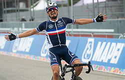 Winner ALAPHILIPPE Julian of France celebrates during Men Elite Road Race at UCI Road World Championship 2020, on September 27, 2020 in Imola, Italy. Photo by Vid Ponikvar / Sportida