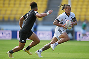Tane Ng Shiu makes a break in the All Blacks Sevens match, Sky Stadium, Wellington, Sunday, April 11, 2021. Copyright photo: Kerry Marshall / www.photosport.nz
