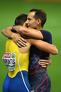 Renaud Lavillenie and Armand Duplantis compete in men pole vault during the European Championships 2018, at Olympic Stadium in Berlin, Germany, Day 6, on August 12, 2018 - Photo Philippe Millereau / KMSP / ProSportsImages / DPPI