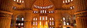 TURKEY, ISTANBUL, OTTOMAN Blue Mosque; mimber and domes