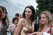 L'WREN SCOTT; GEORGIA MAY JAGGER, The Serpentine Summer Party 2013 hosted by Julia Peyton-Jones and L'Wren Scott.  Pavion designed by Japanese architect Sou Fujimoto. Serpentine Gallery. 26 June 2013. ,