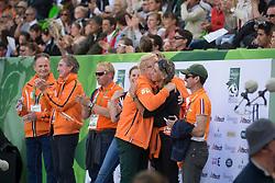 Lips, Martin, (NED)  and Andrew Heffernan, Emiel Welling, Maarten Van der Heyden Helene Pen-AUbert - Eventing jumping - Alltech FEI World Equestrian Games™ 2014 - Normandy, France.<br /> © Hippo Foto Team - Dirk Caremans<br /> 31/08/14