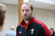 Alun Wyn Jones, the Wales captain is interviewed during the RBS Six Nations 2017 media launch at the Hurlingham Club, Ranelagh Gardens in London on Wednesday 25th January 2017.<br /> pic by John Patrick Fletcher, Andrew Orchard sports photography.