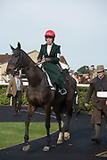 SUSAN OAKES, Side-Saddle Dash, Southern Spinal Injuries Trust charity Day. Wincanotn. 25 October 2015.