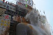 Mahamastakabhisheka festival - The anointment of the Bahubali Gommateshwara Statue located at Shravanabelagola in Karnataka, India. It is an important Jain festival held once in every 12 years.February 2018