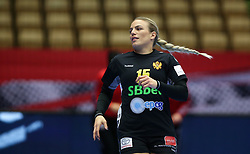 Andrea Klikovac during the EHF Euro 2020 Group A match between Montenegro and Slovenia in Jyske Bank Boxen, Herning, Denmark on December 8, 2020. Photo Credit: Allan Jensen/EVENTMEDIA.