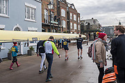 Hammersmith. London. United Kingdom,  General View crews boating from Furnivall SC, 2018 Men's Head of the River Race.  location Barnes Bridge, Championship Course, Putney to Mortlake. River Thames, <br /> <br /> Sunday   11/03/2018<br /> <br /> [Mandatory Credit:Peter SPURRIER Intersport Images]<br /> <br /> LEICA CAMERA AG  LEICA Q (Typ 116)  1/400 sec. 28 mm f.8 200 ISO.  42.5MB