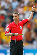 RED CARD Referee Ross Joyce sends off Newport County defender Mark O'Brien (25) (not in picture) for a foul on Tranmere Rovers midfielder James Norwood (10) (not in picture) during the EFL Sky Bet League 2 Play Off Final match between Newport County and Tranmere Rovers at Wembley Stadium, London, England on 25 May 2019.