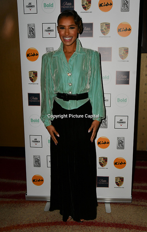 Melody Thornton attends a dinner to raise funds for KIDS, a charity that supports disabled children, young people and their families at Riverbank Park Plaza on 24 November 2018, London, UK.