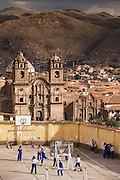 Looking over a school that overlooks the Plaza de Armas. Cusco, Peru, South America