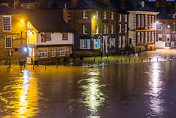 © Licensed to London News Pictures. 04/02/2021. York UK. The river Ouse has broken its banks this morning in York city centre as recent snow fall begins to melt causing river levels to rise. Photo credit: Andrew McCaren/LNP