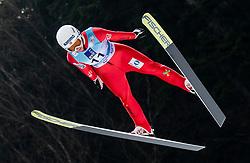 Saglien Ingebjoerg Braaten of Norway soaring through the air during Trial Round at Day 1 of World Cup Ski Jumping Ladies Ljubno 2019, on February 8, 2019 in Ljubno ob Savinji, Slovenia. Photo by Matic Ritonja / Sportida