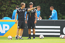 02.09.2015, Commerzbanarena, Frankfurt, GER, UEFA Euro 2016 Qualifikation, Deutschland, Training, im Bild Co-Trainer Thomas Schneider mit Trainer Joachim Löw, Loew // during a training session of german national football team in front of the UEFA European Championship Qualifier matches against Poland and Scotland. Commerzbanarena in Frankfurt, Germany on 2015/09/02. EXPA Pictures © 2015, PhotoCredit: EXPA/ Eibner-Pressefoto/ Roskaritz<br /> <br /> *****ATTENTION - OUT of GER*****