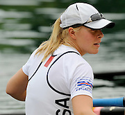 Lucerne, SWITZERLAND.   Women's Eights Final, USA W8+ celebrate on the awards dock before the medal presentation, at the  2008 FISA World Cup Regatta, Round 2.  Lake Rotsee, on Sunday, 01/06/2008.  [Mandatory Credit:  Peter Spurrier/Intersport Images].Lucerne International Regatta. Rowing Course, Lake Rottsee, Lucerne, SWITZERLAND. USA W8+, Bow Brett SICKLER, Lindsay SHOOP, Erin CAFARO, Zsuzsanna FRANCIA, Esther LOFGREN, Rachel JEFFERS, Anna GOODALE, Caryn DAVIES, Cox Mary WHIPPLE.