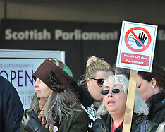 'Hands Off Our Parliament' demo | Edinburgh | 23 March 2018
