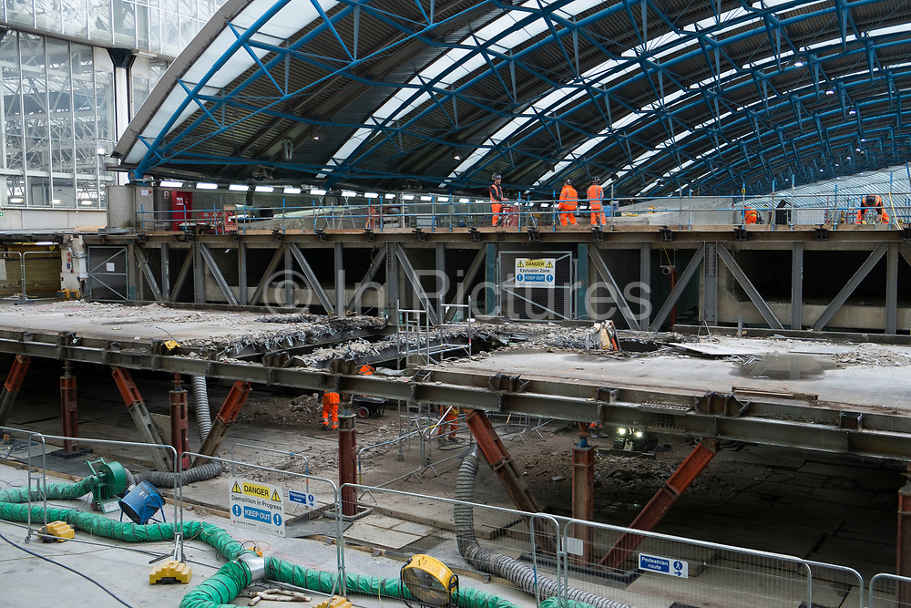 Redevelopment of the old Eurostar terminal at Waterloo Station one of London's main train transport stations in London, England, United Kingdom.