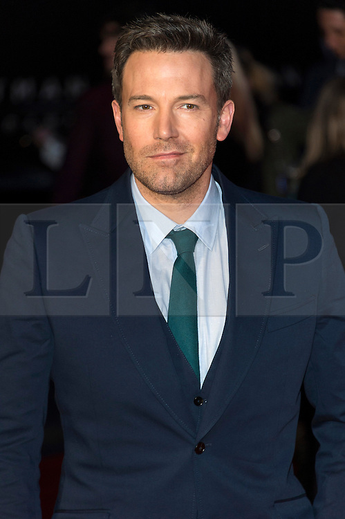 © Licensed to London News Pictures. 22/03/2016. BEN AFFLECK attends the Batman V Superman: Dawn of Justice European film premiere. The film is based on the DC Comics characters. London, UK. Photo credit: Ray Tang/LNP