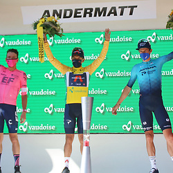 ANDERMATT (SUI) CYCLING<br /> Tour de Suisse stage 8<br /> Richard Carapaz secured the final victory. 2nd Rigoberto Uran and 3rd Jakob Fuglsang