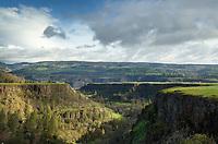 Basalt cliffs at Rowena Plateau, Columbia River Gorge National Scenic Area, Oregon