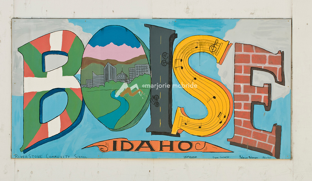 Metropolitan wall art painting downtown Boise, Idaho.