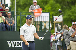 May 5, 2019 - Charlotte, North Carolina, United States of America - Paul Casey smiles before teeing off on the first hole during the final round of the 2019 Wells Fargo Championship at Quail Hollow Club on May 05, 2019 in Charlotte, North Carolina. (Credit Image: © Spencer Lee/ZUMA Wire)
