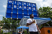 Wilkes-Barre, PA (July 11, 2020) -- Shakir Soto speaks at the Black Lives Matter NEPA United Movement event at Wilkes-Barre Public Square.