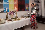 VALERIA NAPOLEONE, Valeria and Gregorio Napoleone and Joe Scotland host a dinner at therir home in Kensington  in celebration of Sol  Calero's commission at Studio Voltaire.  London. 13 October 2015