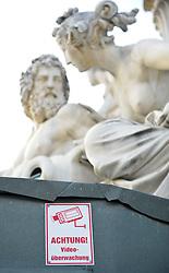 THEMENBILD - Wiener Eistraum, Eislaufen am Rathausplatz in Wien, das Bild wurde am 25. Jaenner 2012 aufgebommen, im Bild Feature Achtung Videoueberwachung, AUT, EXPA Pictures © 2012, PhotoCredit: EXPA/ M. Gruber