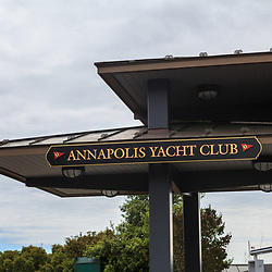Annapolis, MD, USA - May 20, 2012: The Annapolis Yacht Club in Annapolis MD
