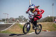 #85 (HATAKEYAMA Sae) JPN  at Round 9 of the 2019 UCI BMX Supercross World Cup in Santiago del Estero, Argentina