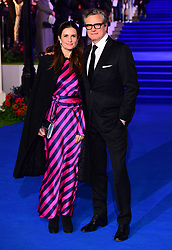 Colin Firth and wife Livia Giuggioli attending the Mary Poppins Returns European Premiere held at the Royal Albert Hall, London.