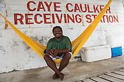 Fisher<br /> Caye Caulker<br /> Ambergris Caye<br /> Belize<br /> Central America<br /> Caye Caulker receiving Station<br /> Northern Fisher cooperative