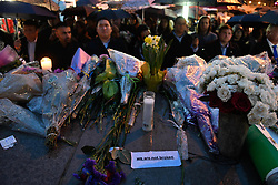 Messages of hope and grief are left at a vigil on Yonge Street in Toronto, Tuesday, April 24, 2018. Ten people were killed and 14 were injured in Monday's deadly attack in which a van struck pedestrians in northern Toronto, ON, Canada. Photo by Galit Rodan/CP/ABACAPRESS.COM