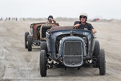 Cars head back to the starting line at TROG (The Race Of Gentlemen). Wildwood, NJ. USA. Sunday June 10, 2018. Photography ©2018 Michael Lichter.