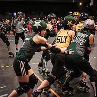 """2015-02-01 Manchester Roller Derby's """"Checkerbroads"""" vs Newcastle Roller Girls """"Canny Belters"""""""