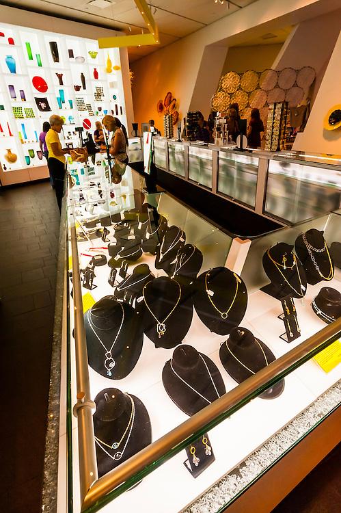 Jewelry, Hamilton Building Museum Shop, Denver Art Museum, Denver, Colorado USA.